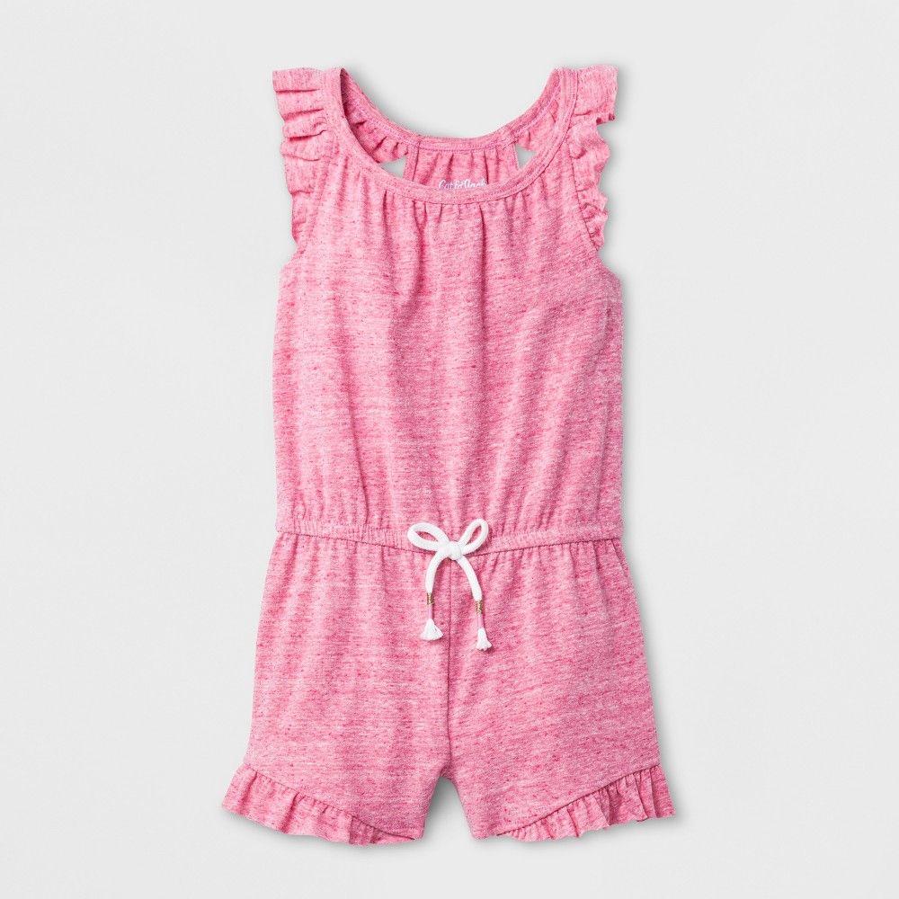 d7f681640871 Toddler Girls  Romper - Cat   Jack Hot Magenta Pink 3T