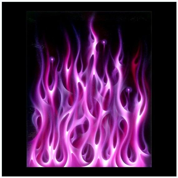 This Is The Fourth In The Series Of Four Paintings I Ve Airbrushed Involving My Interpretation Of True Fire Fla Airbrush Designs Air Brush Painting Flame Art