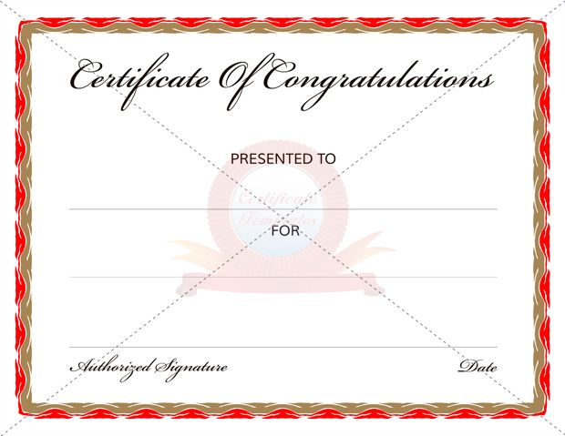 Congratulations Certificate Template Word - whosonline