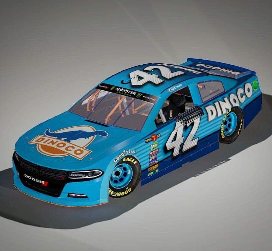 Cars Movie Inspired Design Dinoco Nascar Race Cars Nascar