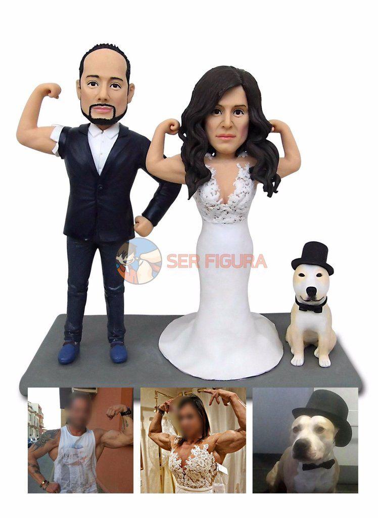 Figura Boda con Perro Personalizada
