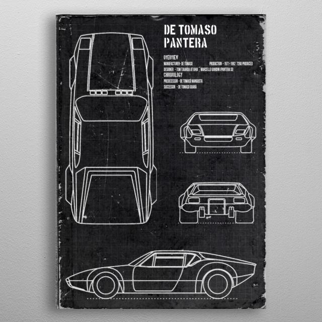 De Tomaso Pantera by FARKI15 DESIGN | metal posters - Displate | Displate thumbnail