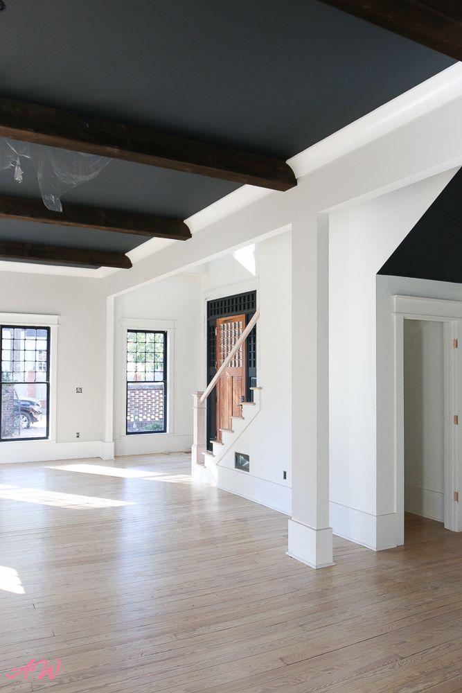 Reader S Choice Room Reveal Addison S Wonderland Whitewashed Hardwood Flooring Red Oak Floors Living Room Hardwood Floors