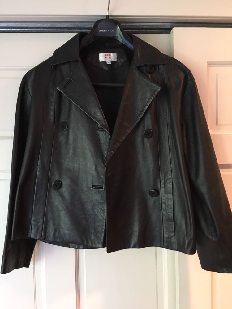 Women s Black Leather Jacket by Red Kid Black Label Coat Size M Gently  Pre-owned  fashion  clothing  shoes  accessories  womensclothing   coatsjacketsvests ... 8f3a17d91