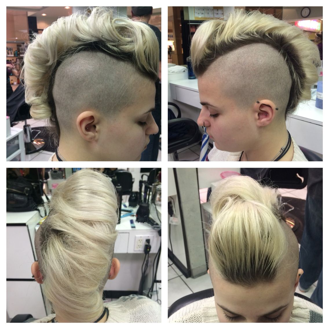 Mohawk updo hair by veronica layne pinterest mohawk updo