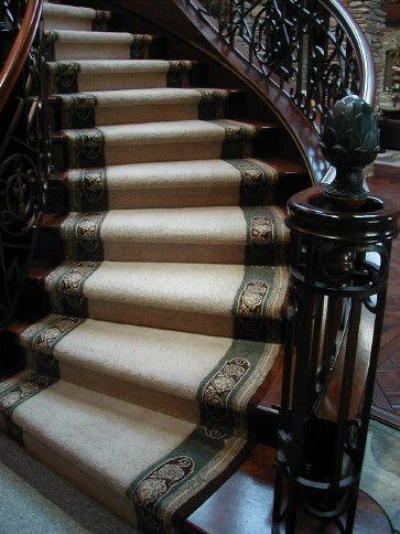 Custom Stair Runner With Border By Hemphillu0027s Rugs U0026 Carpets