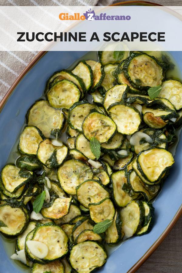 Zucchine a scapece ricetta secondi piatti nel 2019 for Cucinare le zucchine