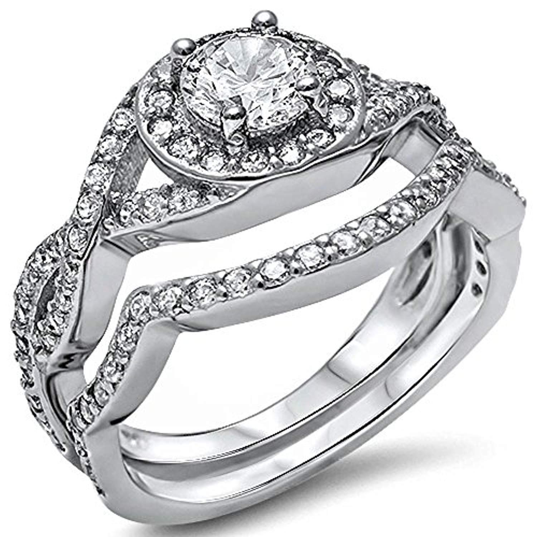 Brightt New Cz Heart Fashion .925 Sterling Silver Ring Sizes 5-10