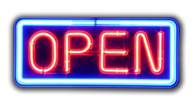 Yes We Re Open For Business Gambar