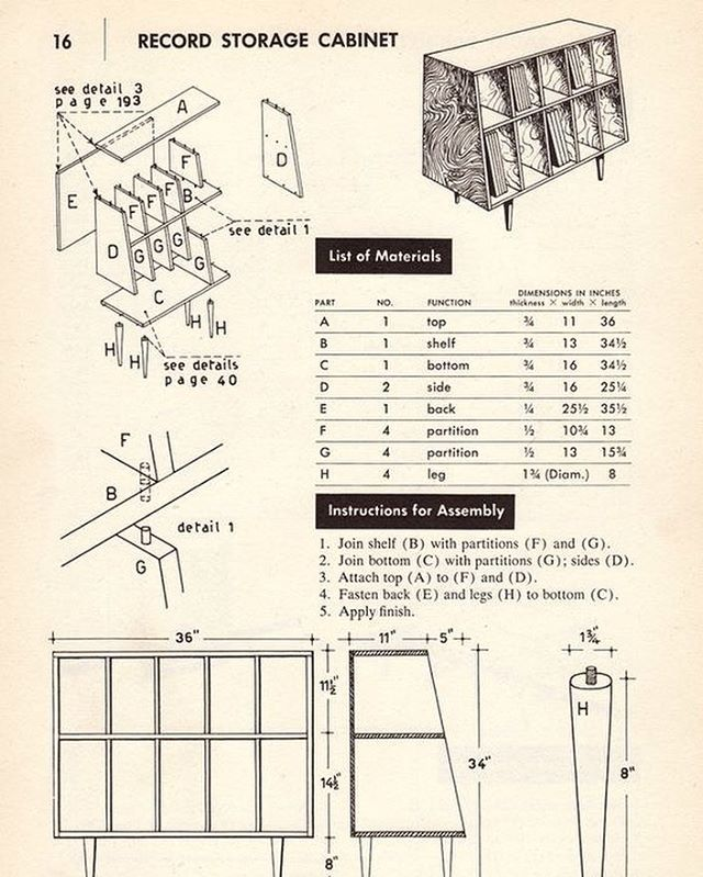 Plans For Building A Vinyl Record Storage Center Vinyl Record Storage Diy Record Storage Record Storage Cabinet