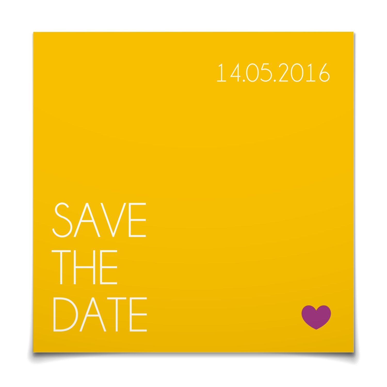 Save The Date Klares Ja In Maisgelb Postkarte Quadratisch