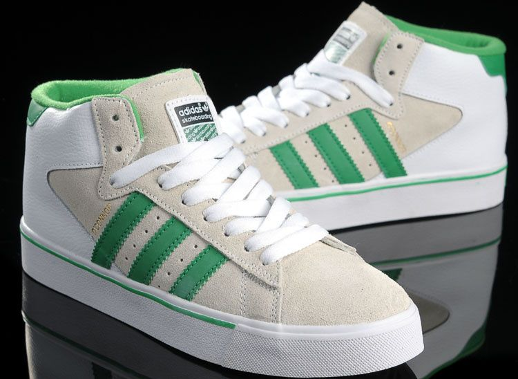 adidas originali campus 2020 serie alte scarpe uomini bianco verde
