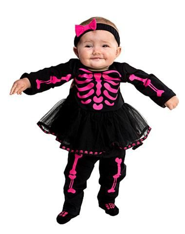 2fdfeedf61a6 Pink Skeleton Baby Costume