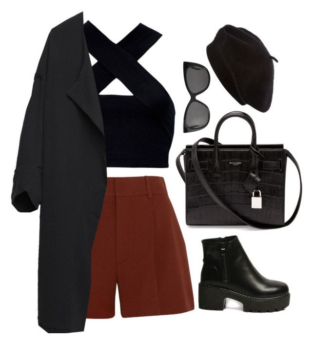 """""""Untitled #6556"""" by heynathalie ❤ liked on Polyvore featuring Motel, Chloé, BLACK CRANE, Yves Saint Laurent and Monki"""