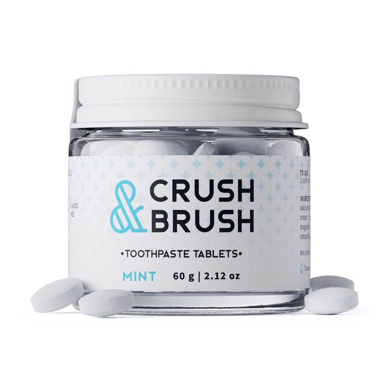 Nelson Naturals Crush & Brush Toothpaste Tablets Mint in