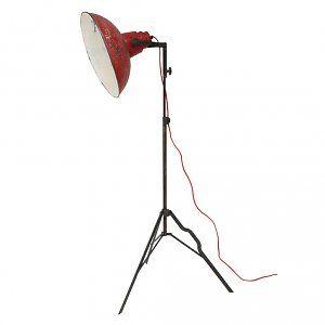 Hk Living Staande Lamp Rood Metaal Lampen Staande Lampen Woonkamer Ideeen