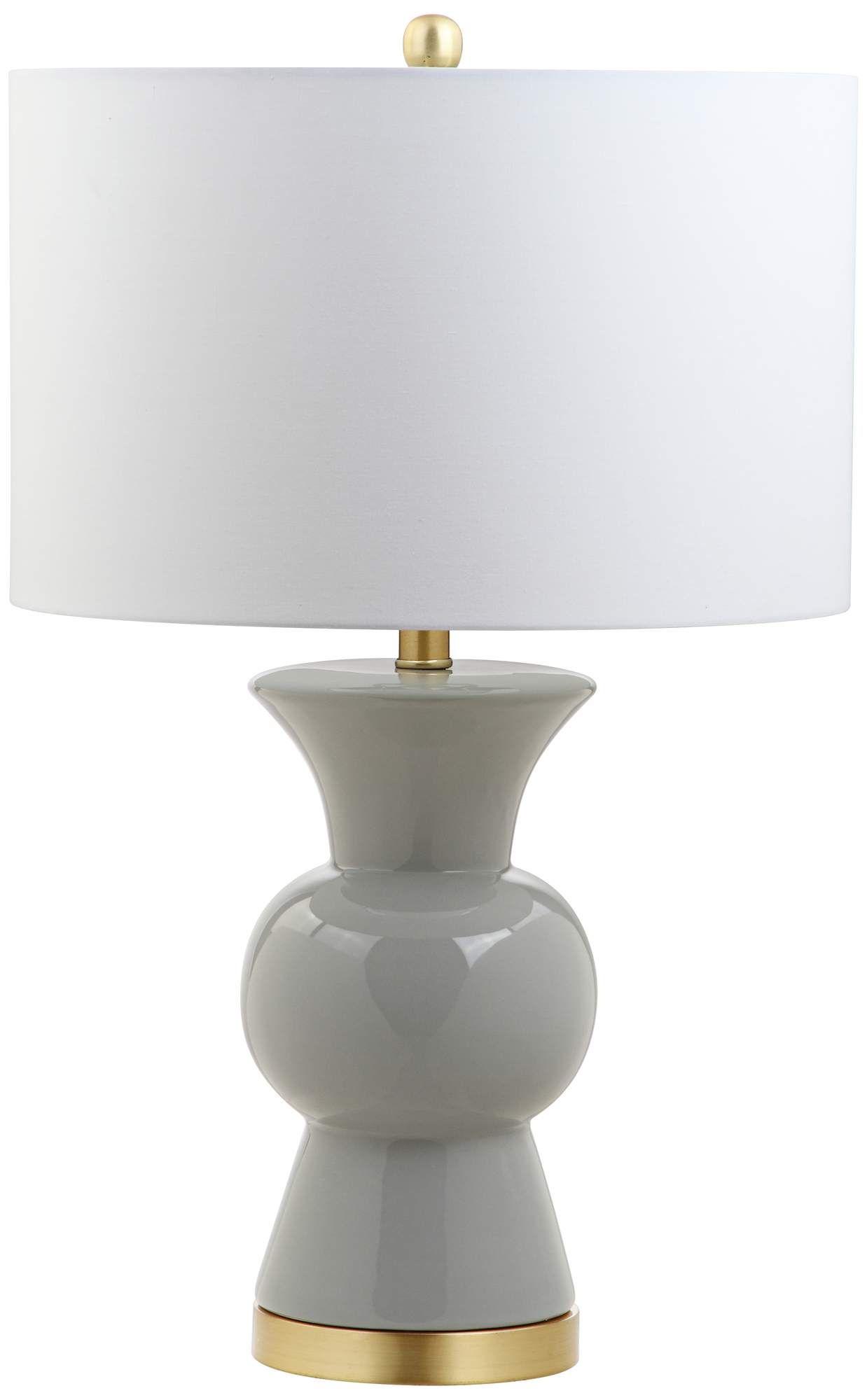 Table Lamps Eden Gray Ceramic Table Lamp In 2020 Ceramic Table Lamps Table Lamp Lamp