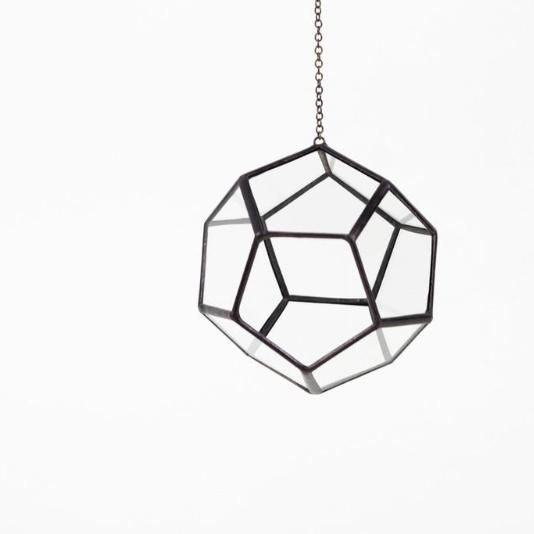 The Hanging Docahedron is back and ready for the upcoming sunshine. Looks fabulous as a planter hanging in a kitchen window.