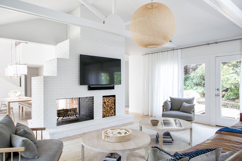11. East Hampton Post-Modern - Chango & Co. - Living Room Fireplace ...
