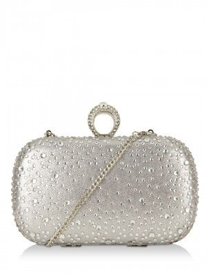 Forever New Embellished Box Clutch Available On Koovs