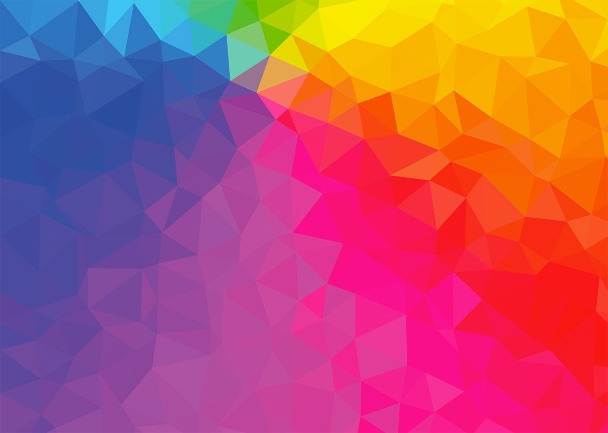 Rainbow Poly Background Abstracte Kunst Kunst Abstract