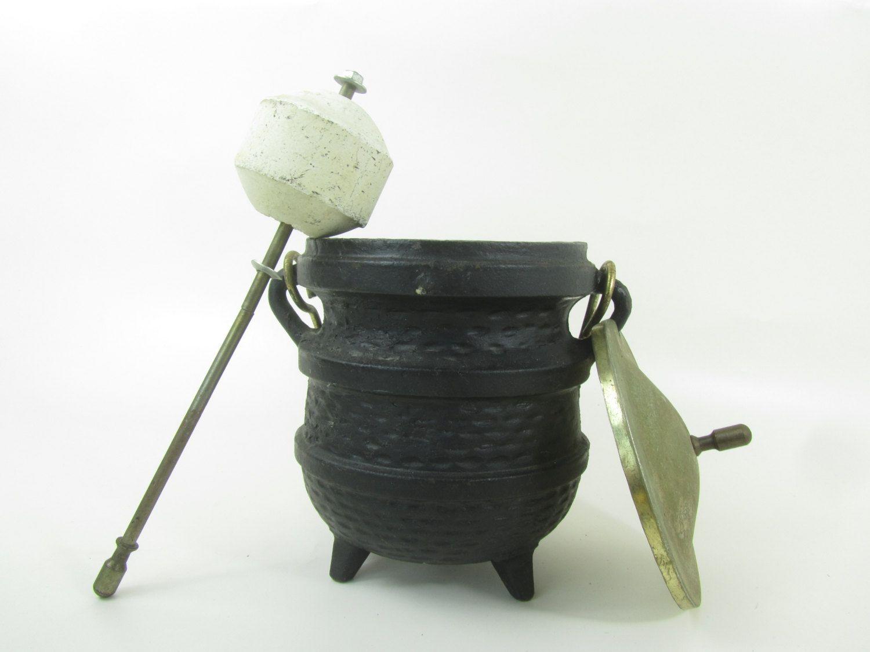 cast iron fire starter pumice stone fire lighter smudge pot