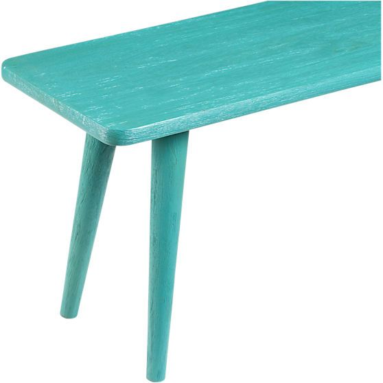 Excellent Baja Aqua Bench In Dining Chairs Barstools Cb2 Our Inzonedesignstudio Interior Chair Design Inzonedesignstudiocom