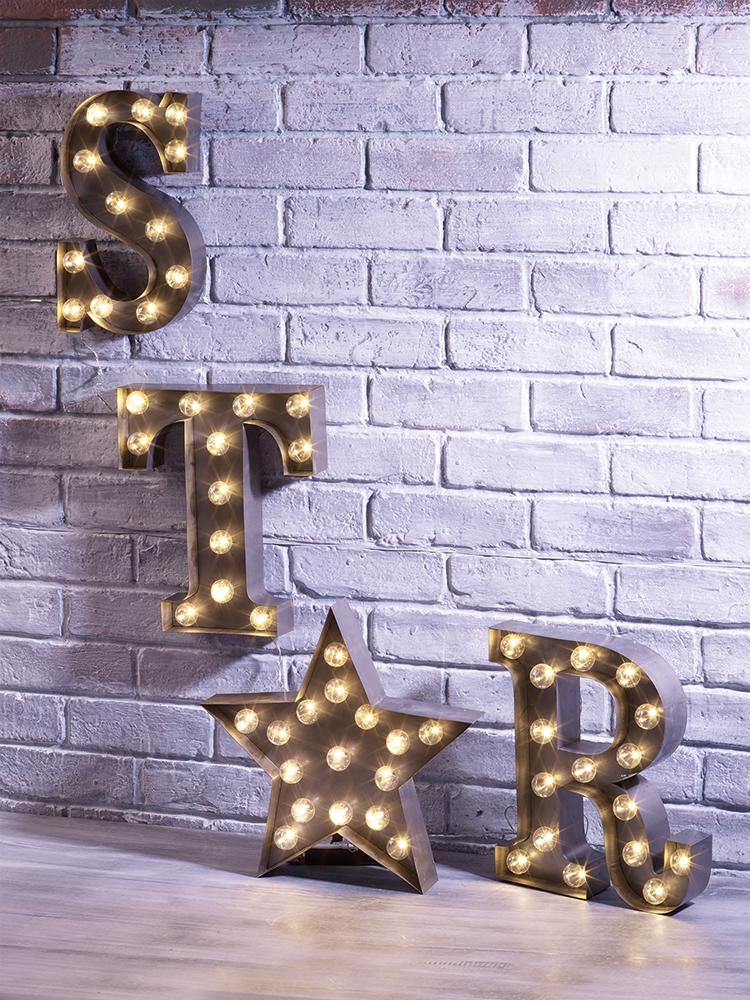 NEW Star Letters Carnival Light Zinc Kids Indoor