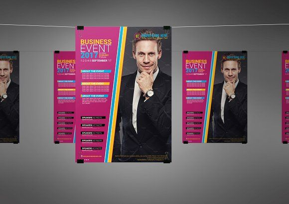 Business Event Flyer Template by Star Graphic Design on - event flyer