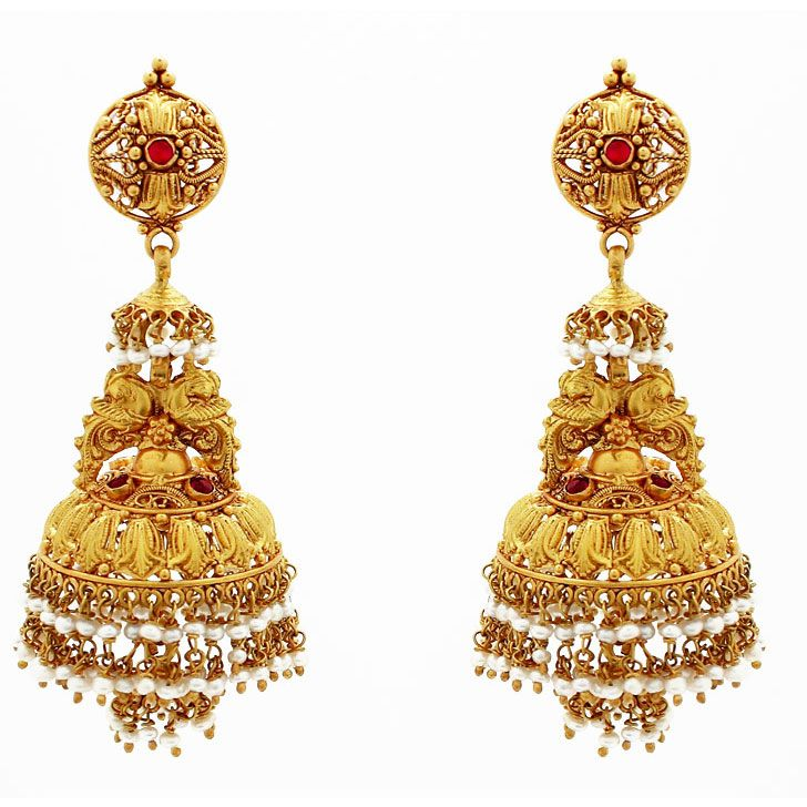 Beautiful Gold Earring Designs for Wedding | Jewellry\'s Website