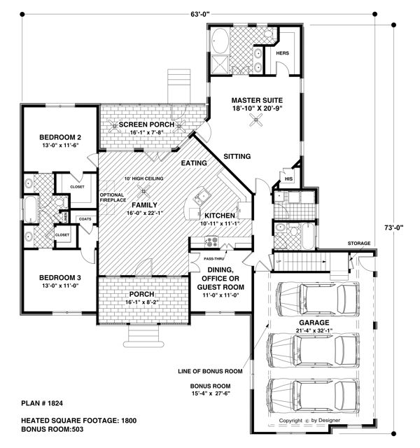 The Wellsley Cottage S 7675 4 Bedrooms And 3 5 Baths The House Designers House Plans And More House Plans One Story Craftsman Style House Plans