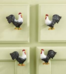 10 Pc Country Rooster Decor Kitchen Cabinet Knobs or Drawer Pulls ...