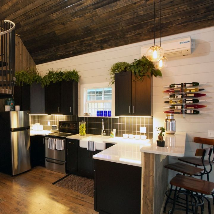 images about Tiny House on Pinterest Couple Accent walls