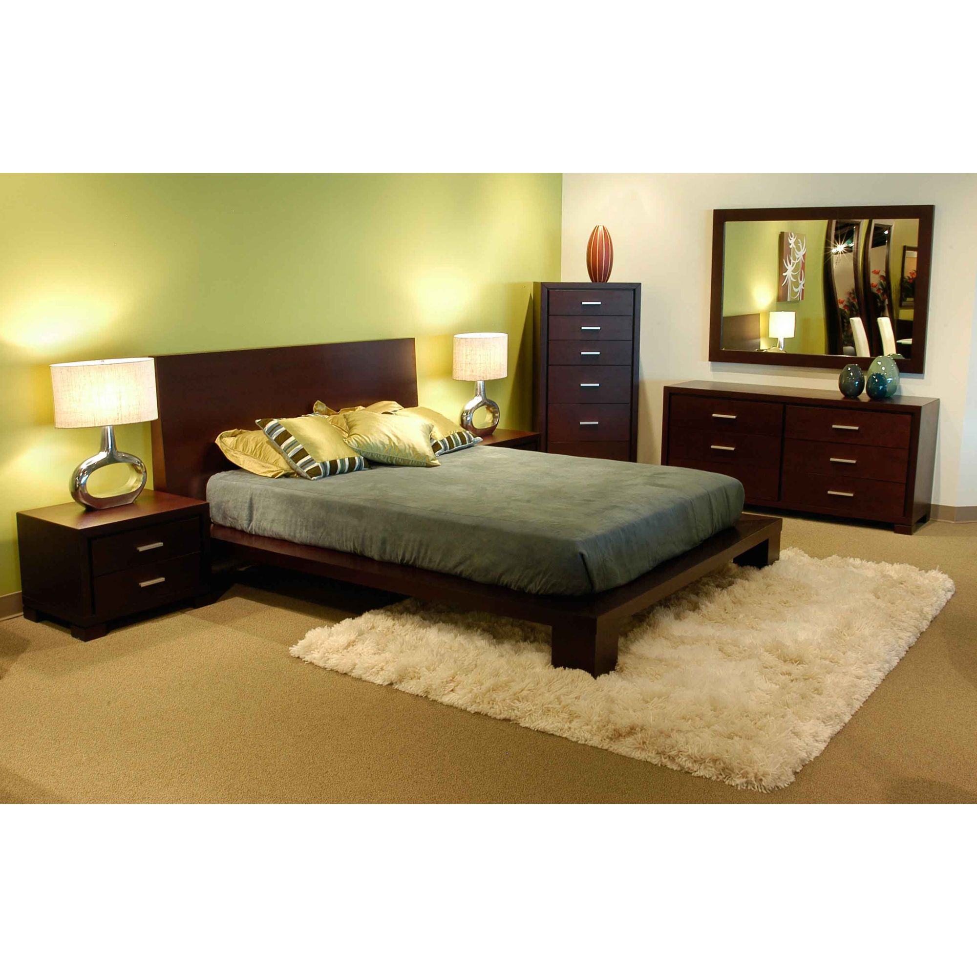 star international xena bedroom set in dark walnut
