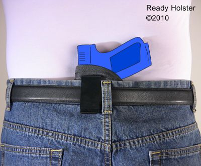 Concealed IWB Holster for Ruger SR9c with 3 4