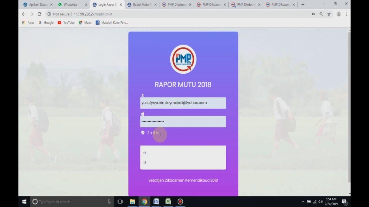 Solusi Jitu Mengatasi Username Password Login Rapor Mutu Cara Download Video