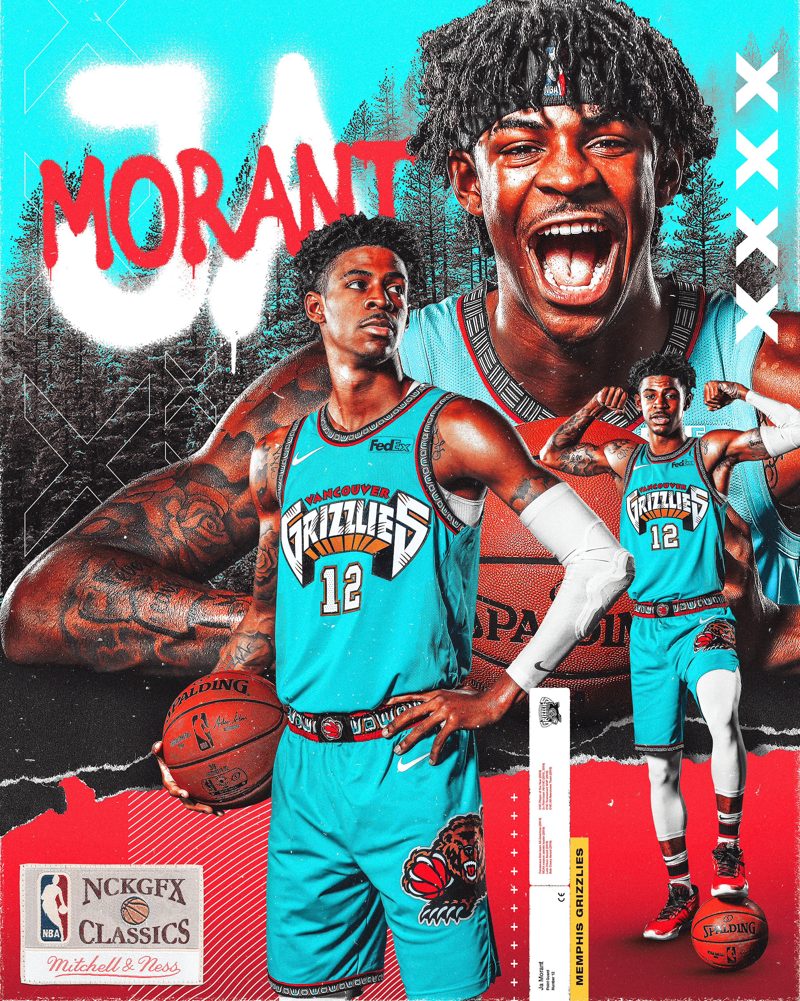 Ja Morant on Behance in 2020 Nba pictures, Nba