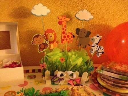 Bellos centros de mesa para fiestas infantiles jungle - Centros de mesa para cumpleanos ...
