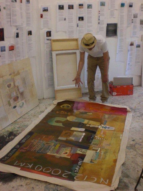 Kimowan Metchewais in his North Carolina studio c. 2010.