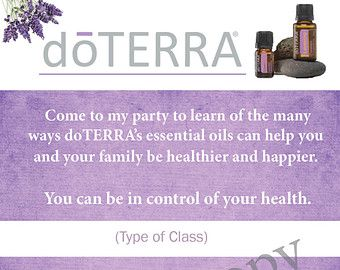 Doterra Class Invitation Printable Invitationjpgcom