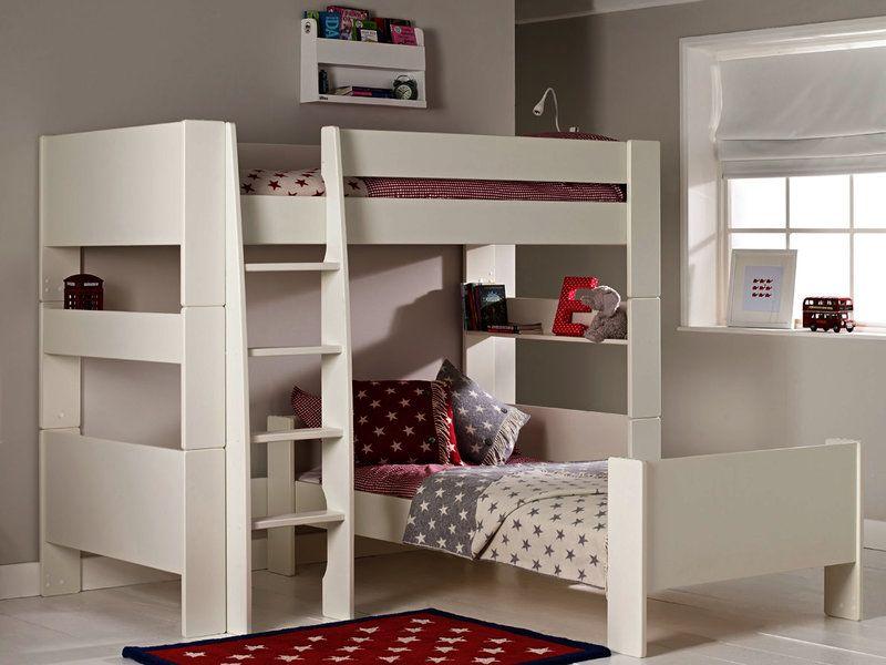 Solitaire White L Shaped Bunk Bed Dormitorios Decoracion De