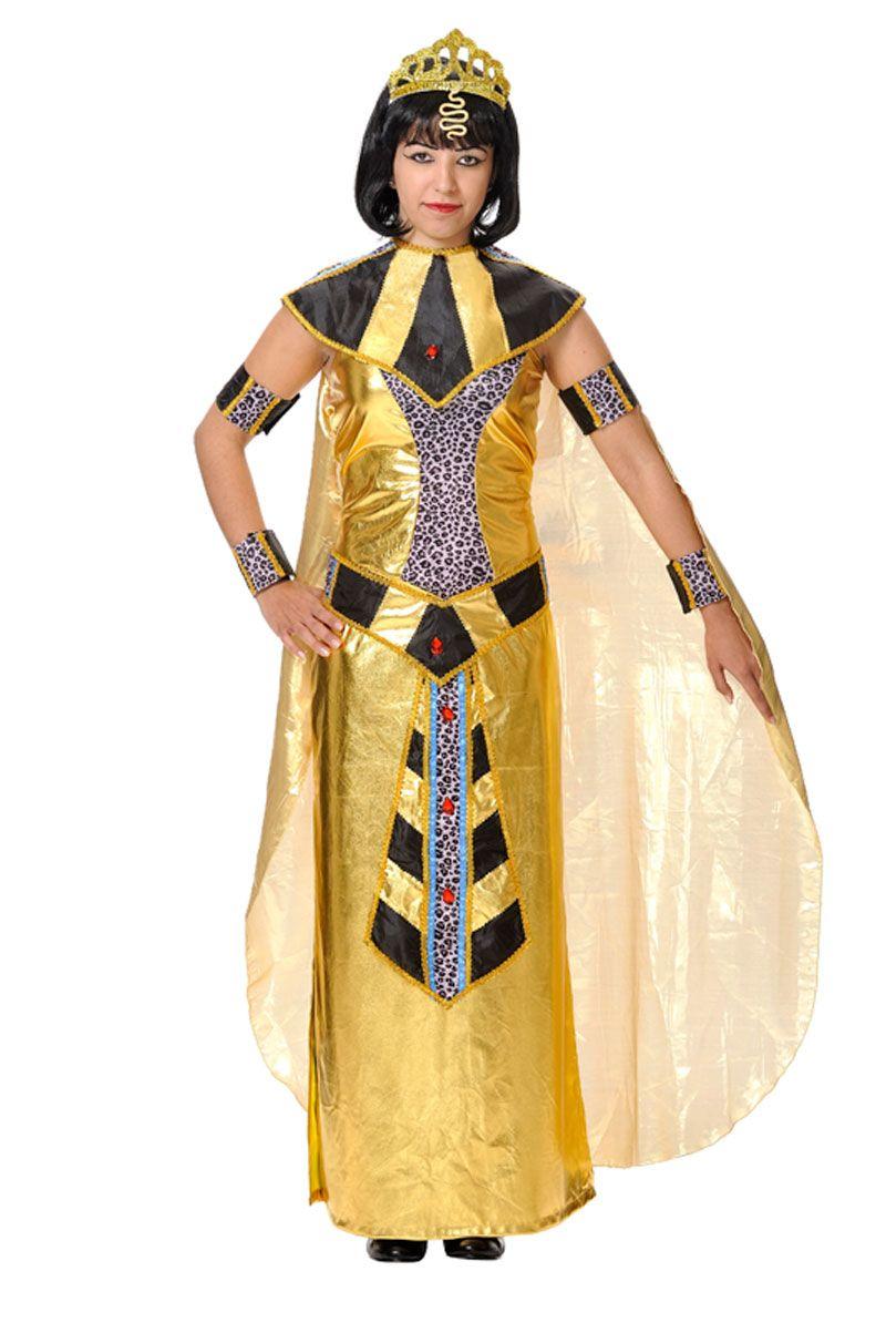 DisfracesMimo, disfraz de faraona egipcia mujer talla xl. Recrear�s a una bella faraona de la �poca de las pir�mides al estilo de la bella cleopatra o la m�tica nefertiti. Es perfecto para el Carnaval.  Este disfraz es ideal para tus fiestas tem�ticas de disfraces romanos y egipcios adulto. fabricacion nacional