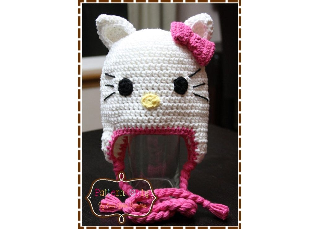Cat Hat Crochet Pattern Hello Kitty 111 Permission To Sell