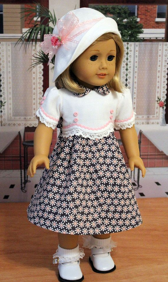 1930s Frock with Cloche Hat for Dolls like Kit or Ruthie | American ...