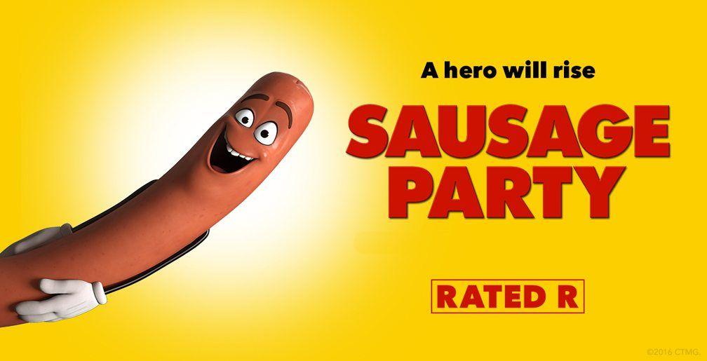 The Highest Grossing R Rated Animated Film Of All Time Sausage Party Comes To Blu Ray Dvd November 8 Sausage Party Movie Blog Party