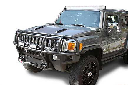 Hummer H3 H3t Search Rescue Brush Grille Guard By Predator Hummer Search And Rescue Hummer H3