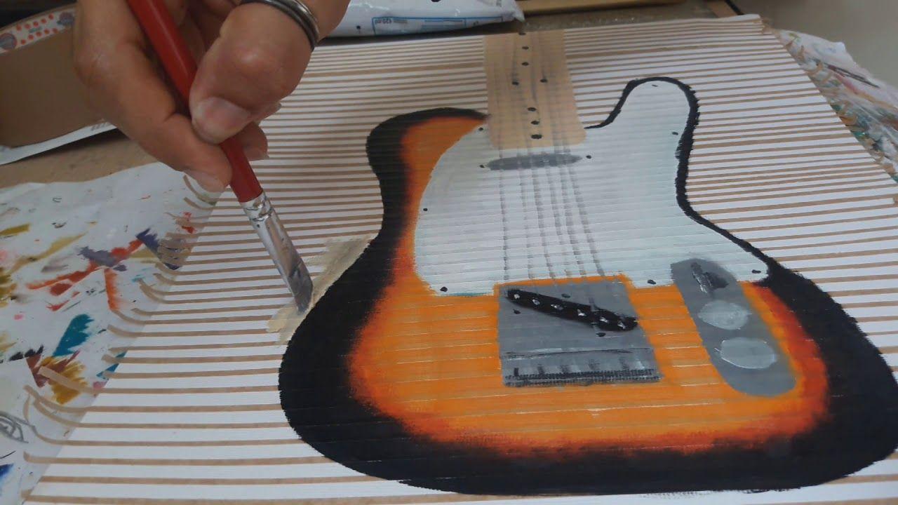 Pintura electric guitars música natureza morta quadros