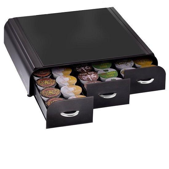 Three Drawer Single Pod Holder Mind Reader Keurig Storage Organizer Black Coffee #MindReader