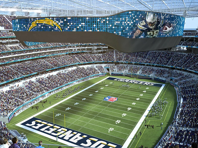 American Airlines Will Pay 90 Million To Sponsor The Massive 5 Billion Los Angeles Stadium The Rams And Chargers W Los Angeles Chargers Stadium Nfl Stadiums