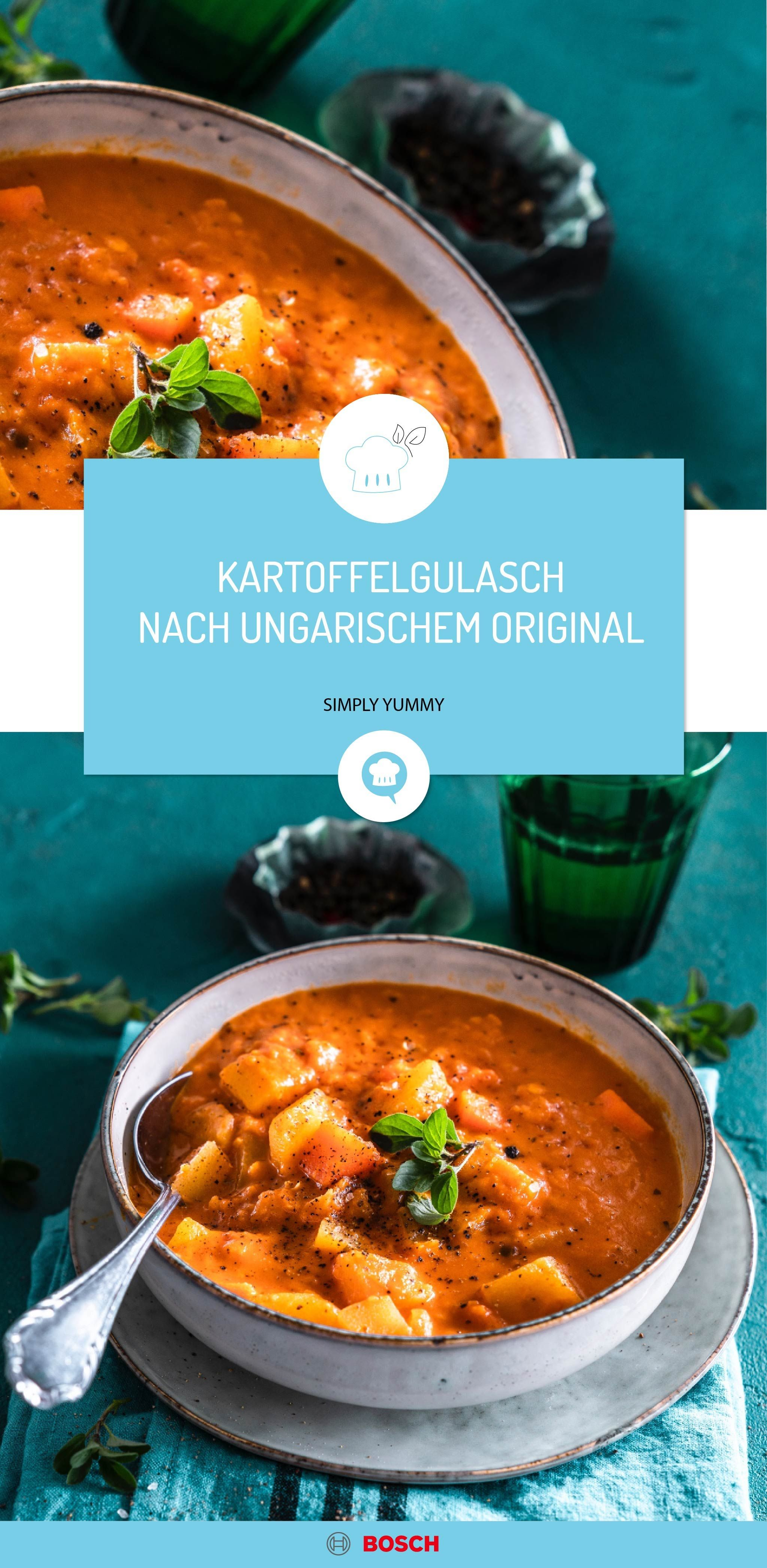 Kartoffelgulasch nach ungarischem Original #vegetarischerezepte